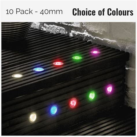 led deck light kit pack of 10 40mm led deck plinth lights kit