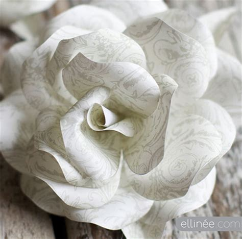rose paper flower pattern home dzine craft ideas the most gorgeous paper roses
