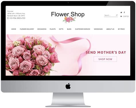 flower design website website themes seo floranext florist websites
