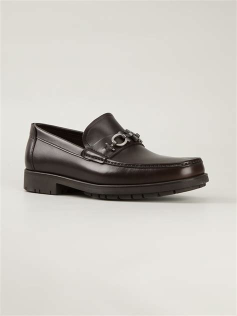 loafers ferragamo ferragamo master loafers in brown for lyst