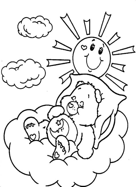 care bear coloring page free free printable care bear coloring pages for kids
