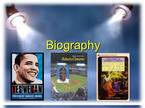 biography as genre biography genre