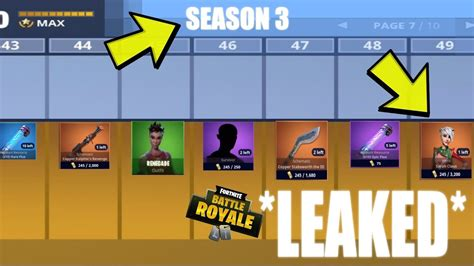 fortnite new items season 3 new items leaked fortnite battle royale
