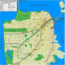 Trolley Map San Francisco by San Francisco Transit Map Dannyman Toldme Com 2009 11 03