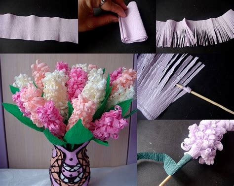 How To Make Beautiful Flowers With Paper - beautiful paper flowers hyacinths diy alldaychic