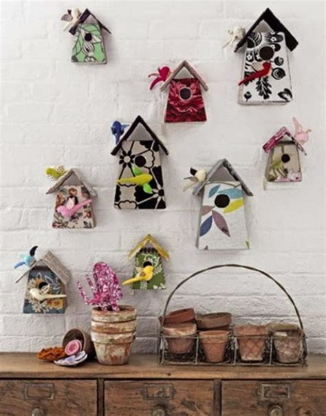 handmade decorative birdhouses adding personality to
