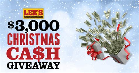Christmas Cash Giveaway - lee s 3 000 christmas cash giveaway 2017