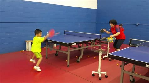 table tennis learn to play table tennis on your knees like a 6 year