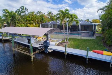 boat lift canopy cape coral mls 218016538 cape coral 4926 normandy ct cape coral