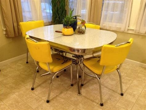 1950 s chrome table and chairs vintage 1950 s classic chrome formica ornate dining room