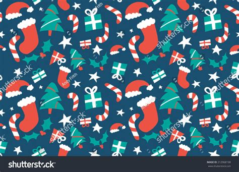 christmas pattern repeat christmas repeating pattern stock vector 212968198