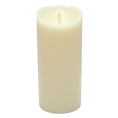 luminara fireless candle ultra realistic flameless candle luminara 09845 4 quot x 9 quot ivory vanilla scent wavy edge
