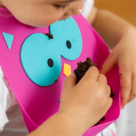 Make My Day Bib Owl Ungu what a hoot make my day products
