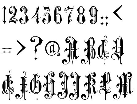 victorian tattoo lettering font identified alexandra gophmann victorian gothic one