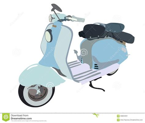 doodle motor motor scooter doodle stock vector image 56804931