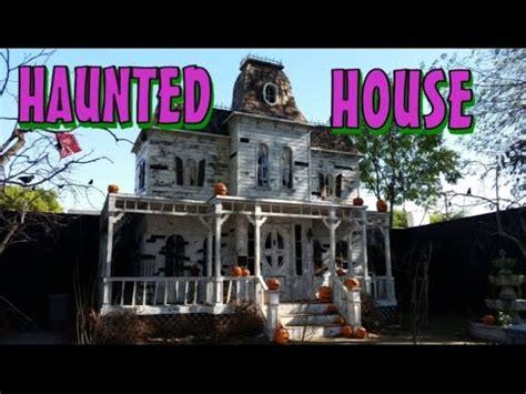 haunted house walkthrough around the facade