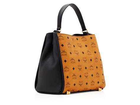 mcm corina visetos shoulder bag in brown lyst
