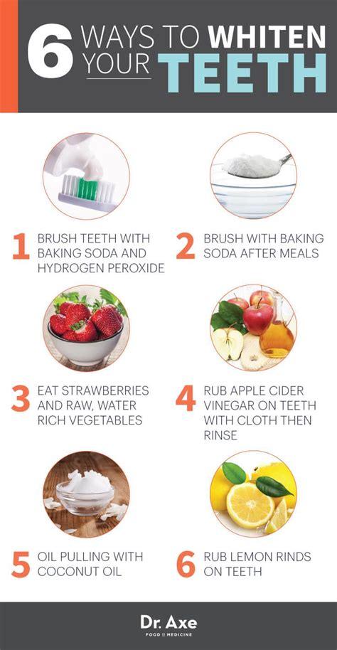 ways  naturally whiten  teeth health issues