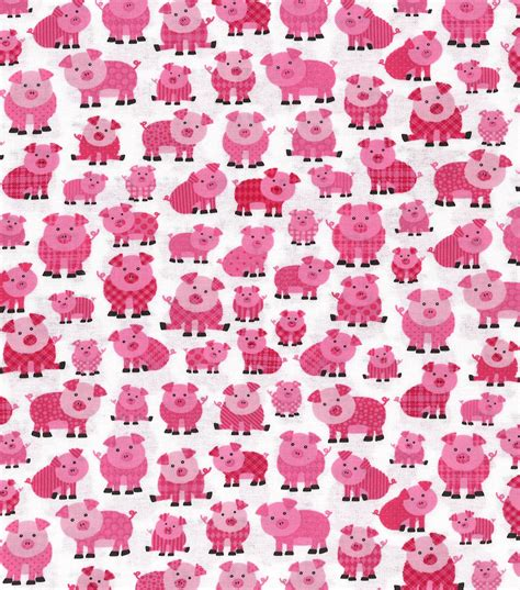 pink pattern cotton fabric novelty cotton fabric patterned pink pigs jo ann