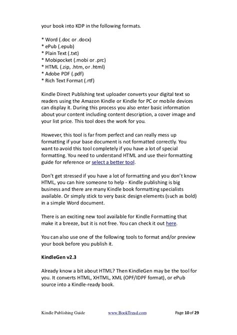 Kindle Publishing Guide