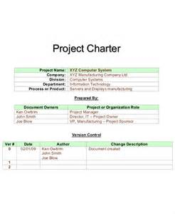 project charter pmbok template 8 project charter templates free pdf word documents