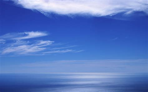 weather background images blue sea horizon clouds wallpaper