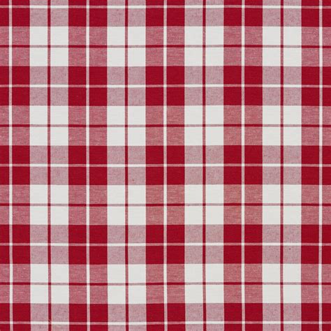 red and white upholstery fabric red and white plaid cotton heavy duty upholstery fabric by