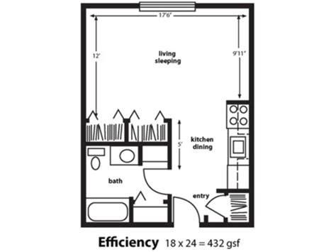 efficiency floor plans small efficiency apartments floor plans micro efficiency apartment efficient floor plans