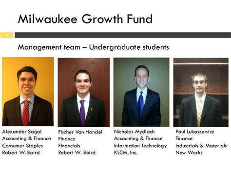Mba Finance Milwaukee by Milwaukee Growth Fund February Client Meeting Materials