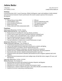 Resume For Journeyman Electrician by Journeymen Electricians Resume Sle My Resume
