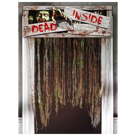 halloween door curtain b m halloween door curtains dead inside decorations
