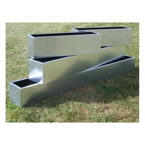 Trough Planters Uk by Galvanised Trough Planters Window Boxes From Potstore Co Uk