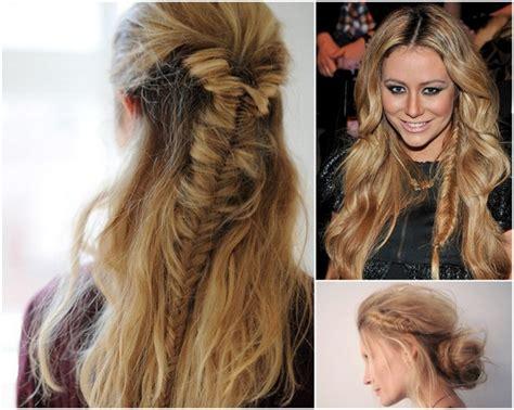 pictures of unique hair braids unique fishtail braids for boho brides 6 unique hair