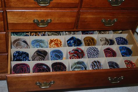 How To Store Ties In A Drawer by Tie Organizer The Needful Things