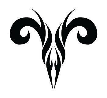 tribal brown ink aries design 40 best aries tattoos images on aries tattoos
