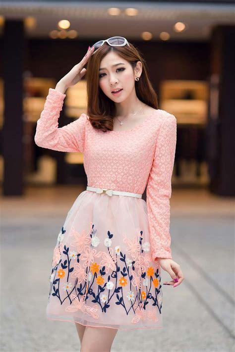 Pw6083 Mini Dress Motif Bunga mini dress motif bunga cantik terbaru model terbaru