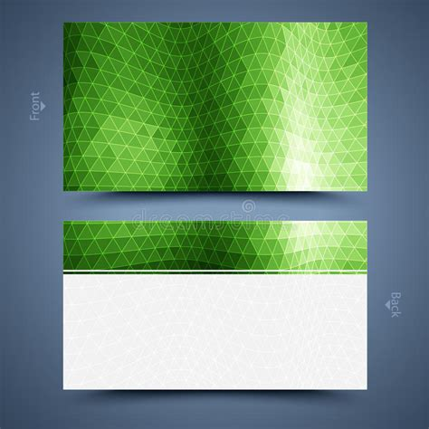 green card photo template green business card template abstract background stock