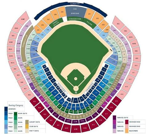 yankees legends seats price yankee stadium seating chart