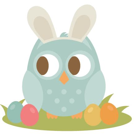 Easter Owl SVG cutting file easter svg scrapbook title