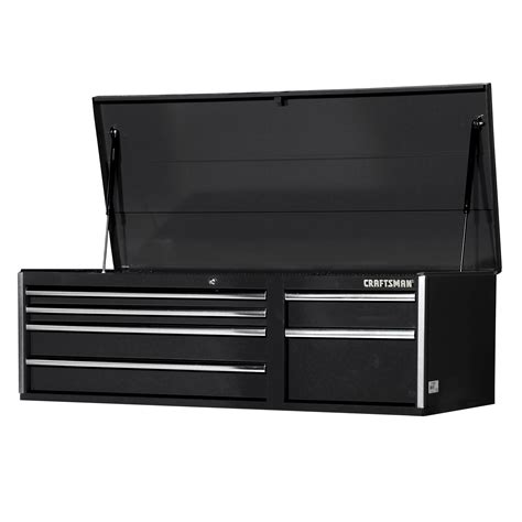 Craftsman Tool Chest Drawer Slides by Craftsman 56 In 6 Drawer Bearing Slides Top Chest Black