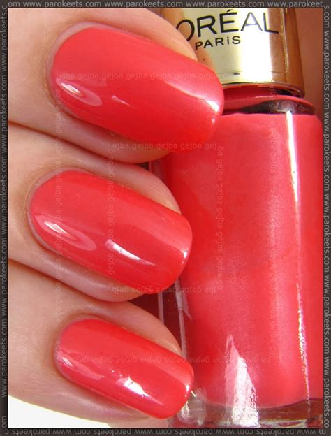 Coral Colored L by L Oreal Color Riche Dating Coral And Bagatelle Nail
