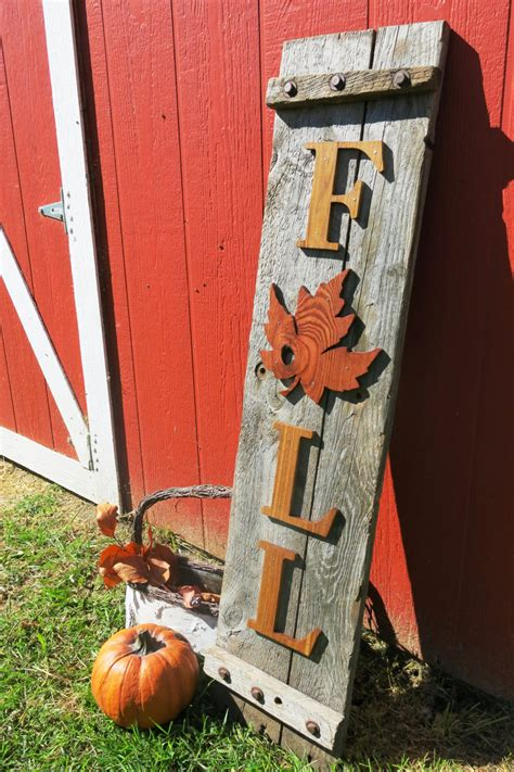 wooden fall decor 21 fabulous etsy fall decorations to buy in 2018