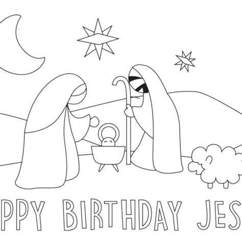 Free Happy Birthday Jesus Coloring Pages
