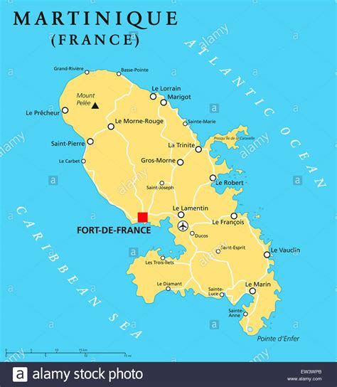 martinique map map of martinique my
