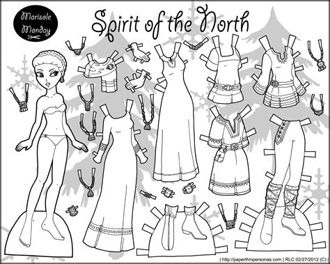 Fairy Archives Page 2 Of 3 Paper Thin Personas Paper Doll Coloring Pages