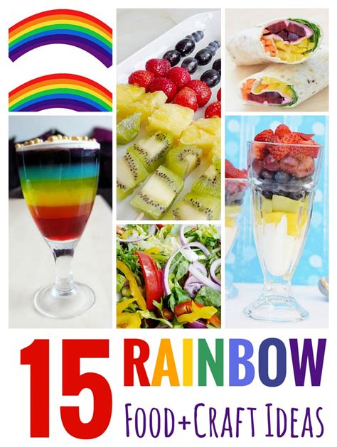 food crafts ideas 15 rainbow food craft ideas 187 the purple pumpkin