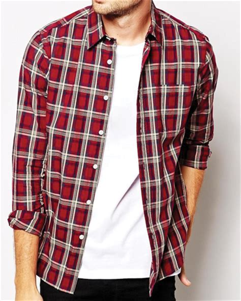 Promo Fashion White Flanel maroon and white flannel shirt wholesale