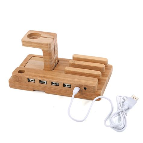 Desk Holder by Multi Function Bamboo Phone Desk Stand Holder For Iphone
