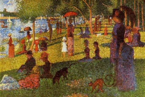 georges seurat most famous paintings georges seurat an afternoon at la grande jatte oil