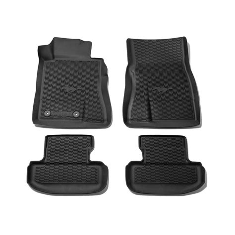 ford hr3z 6313300 aa mustang floor mats all weather rubber